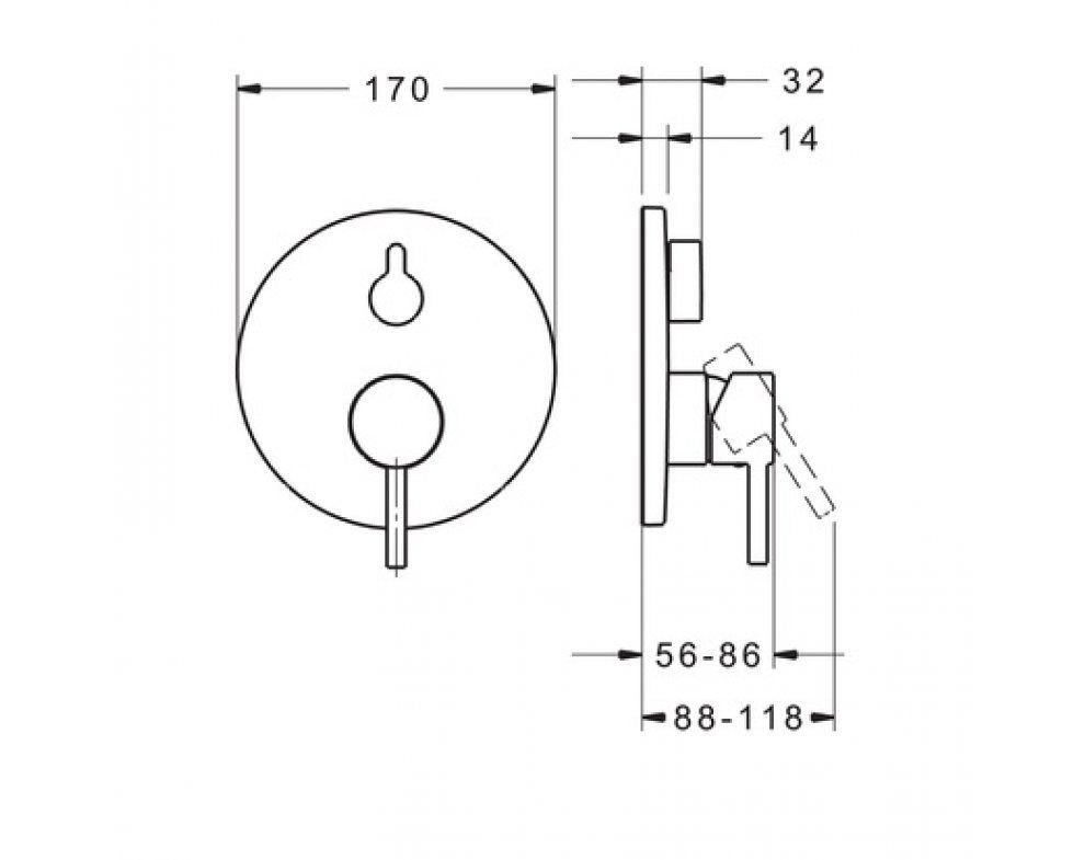 batéria sprchová podomietková pre 2 odberné miesta, HANSAVANTIS Style