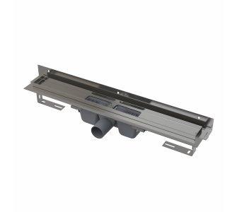 Flexible - Podlahový žľab s okrajom pre perforovaný rošt a s nastaviteľným límcom ku stene, dĺžka 1050mm