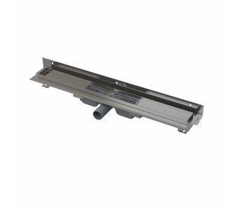 Flexible Low - Podlahový žľab s okrajom pre perforovaný rošt a s nastaviteľným límcom ku stene, dĺžka 650mm