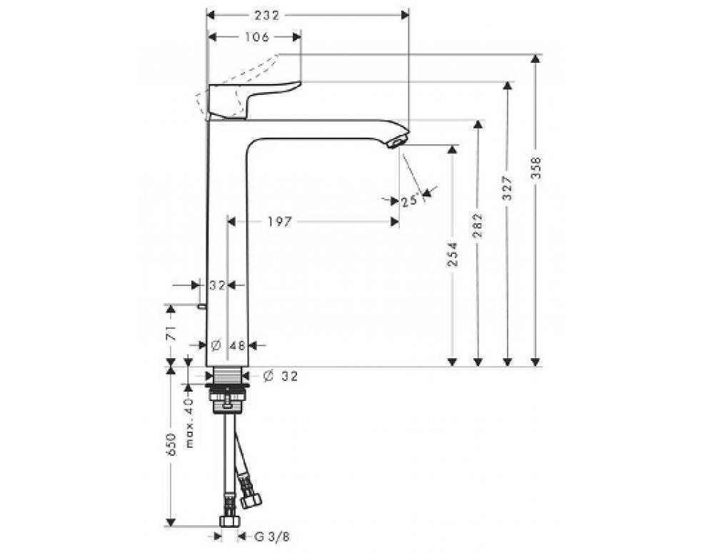 batéria umývadlová stojánková s odtok. garnitúrou, Metris New