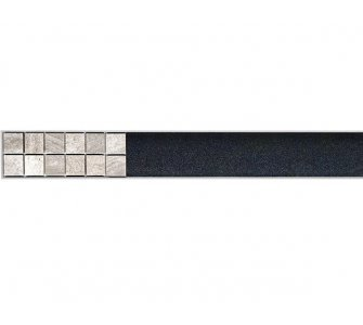 Rošt na nalepenie dlažby pre líniový podlahový žlab, 1150mm, FLOOR, nerez