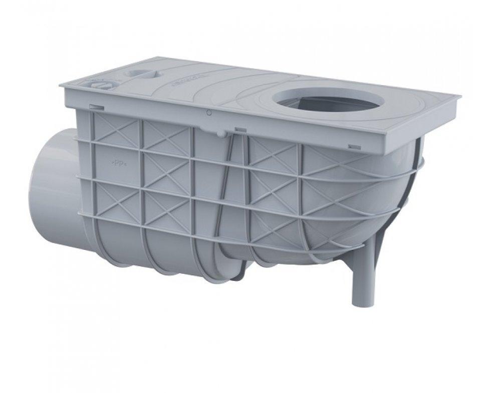Univerzálny lapač strešných splavenín 300×155/110 mm bočná, šedá