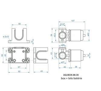 batéria sprchová podomietková pre 1 odberné miesto, s AQ-boxom, ZORA