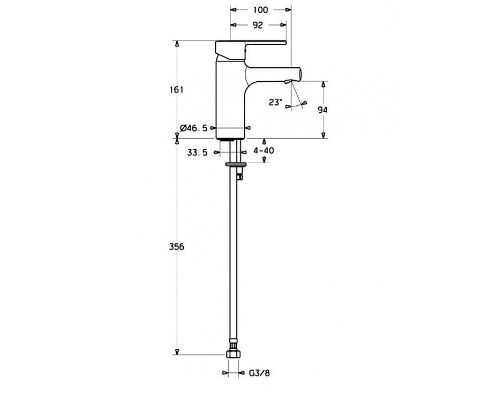 umývadlová stojánková batéria HANSARONDA, bez garnitúry