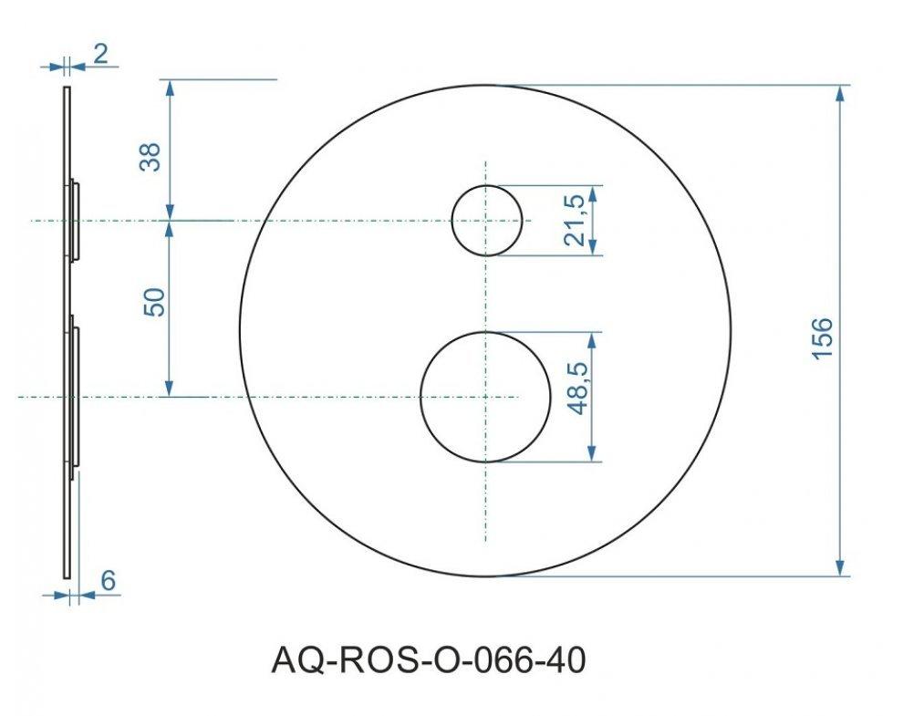batéria sprchová podomietková pre 2 odberné miesta, s AQ-boxom, PERLA