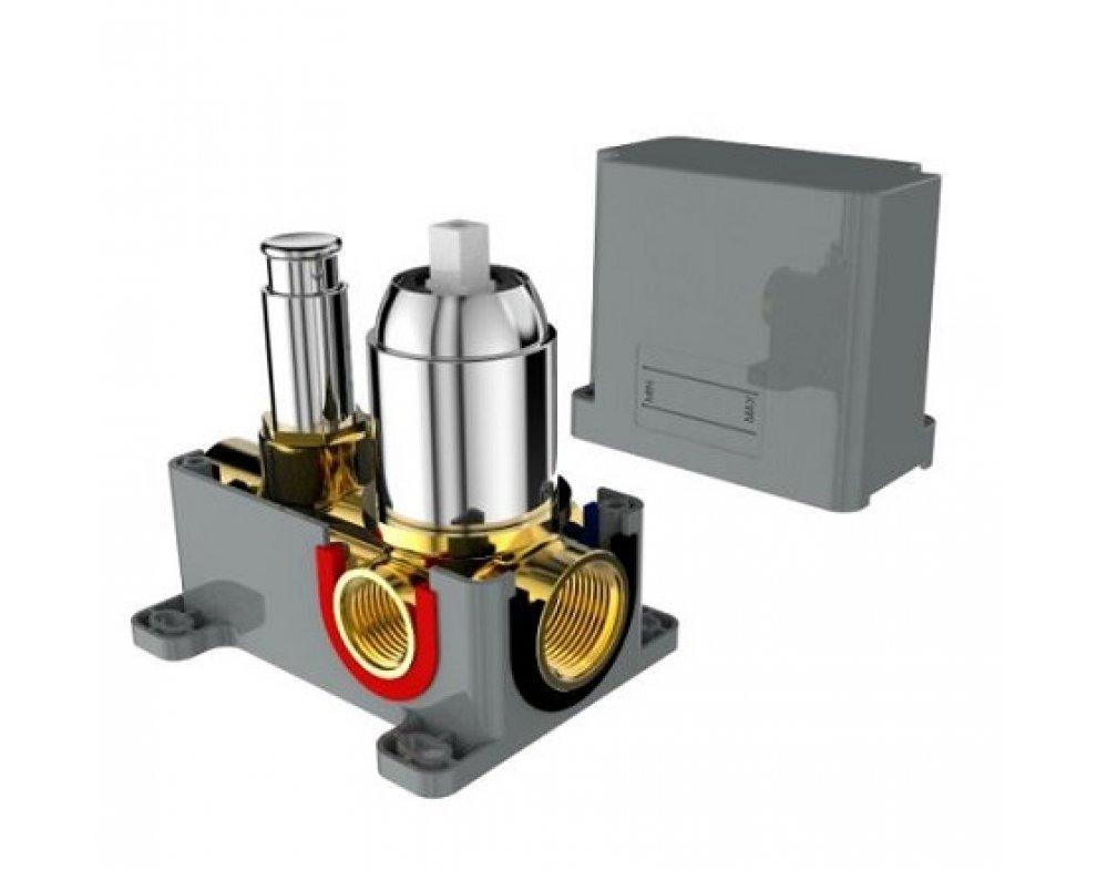 batéria sprchová podomietková pre 2 odberné miesta, s AQ-boxom, FORUM