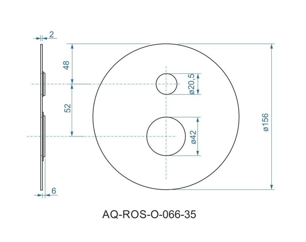 batéria sprchová podomietková pre 2 odberné miesta, s AQ-boxom, VENTURA