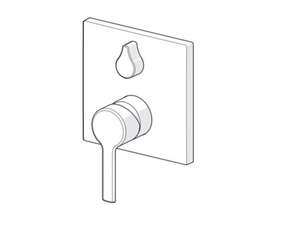 batéria sprchová podomietková pre 2 odberné miesta, HANSARONDA