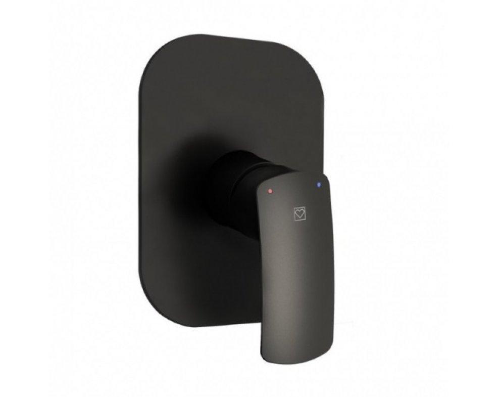 vrchná rozeta pre podomietkovú sprchovú batériu, HERZ ELITE, čierna