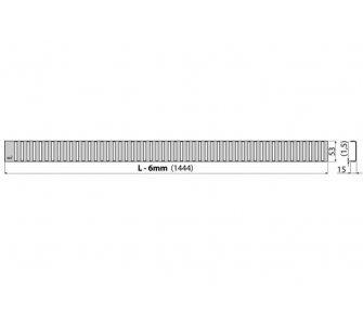 Rošt LINE 1450 mm lesklý