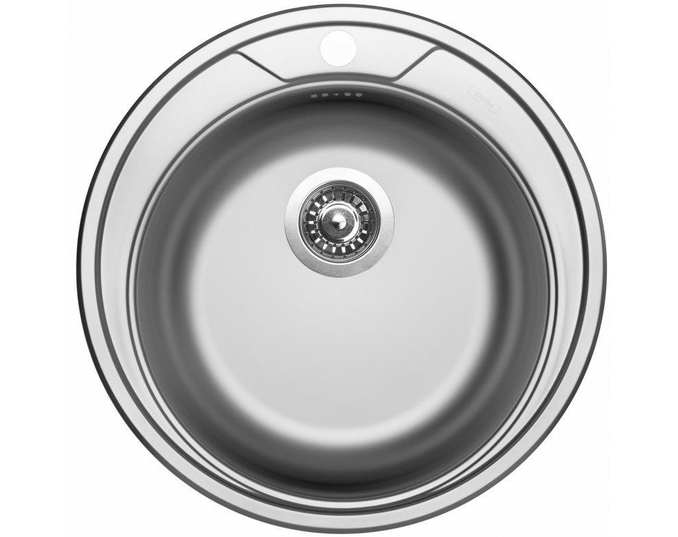 Drez nerezový Sinks ROUND 510 V 0,6mm matný