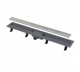 Simple - Podlahový žľab s okrajom pre perforovaný rošt, dĺžka 650mm