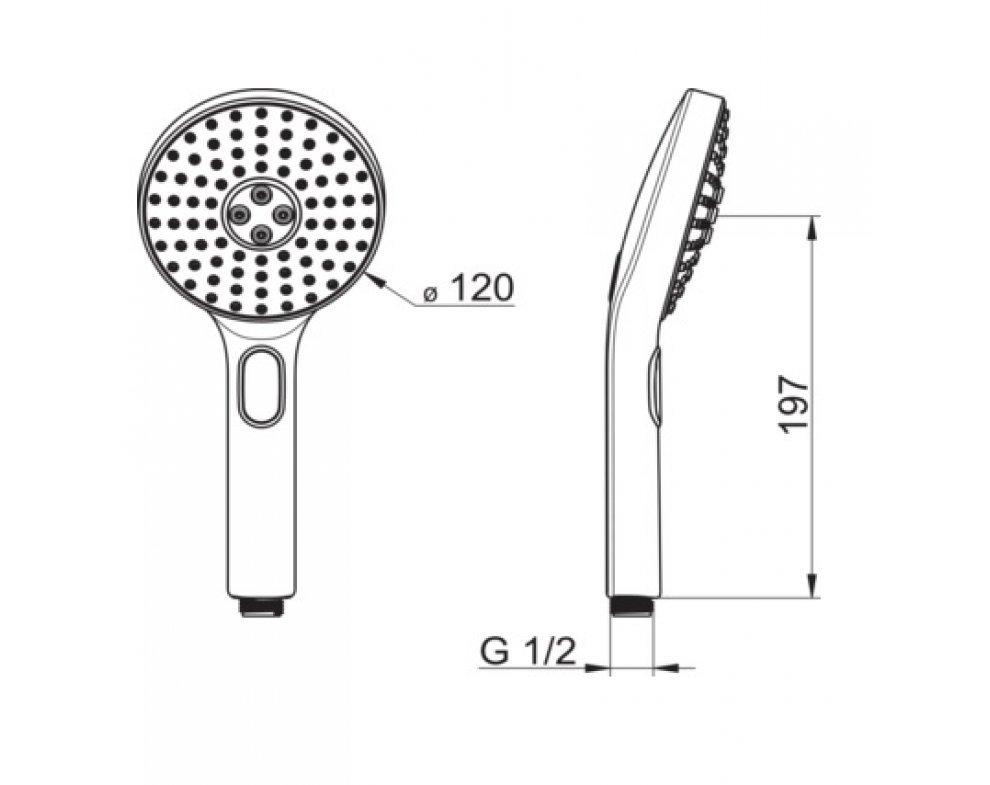 Ručná sprcha 3-polohová, HANSAACTIVEJET