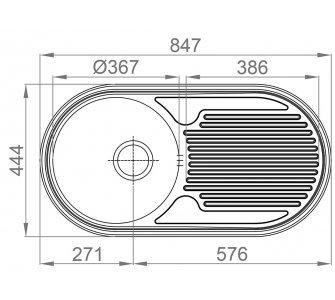 Drez nerezový Sinks SEMIDUETO 847 V 0,6mm matný leštený