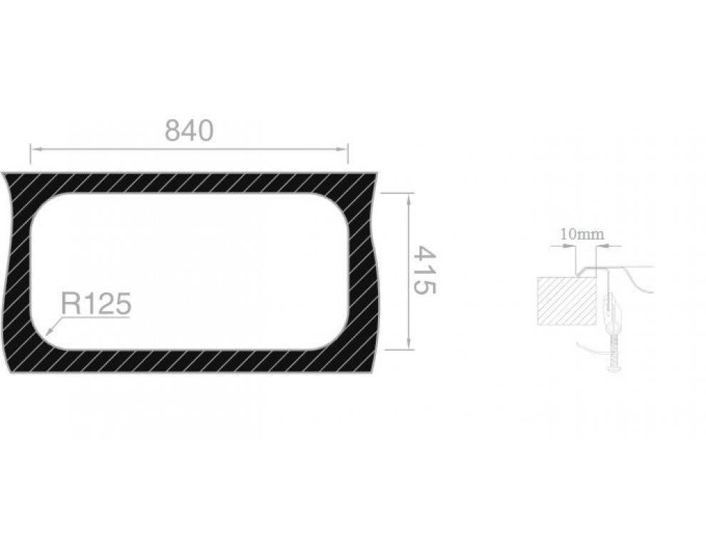 Drez nerezový Sinks SEVILLA 860 DUO V 0,6mm leštený