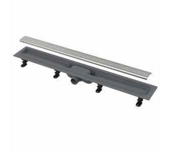 Simple - Podlahový žľab s okrajom pre perforovaný rošt, dĺžka 750mm