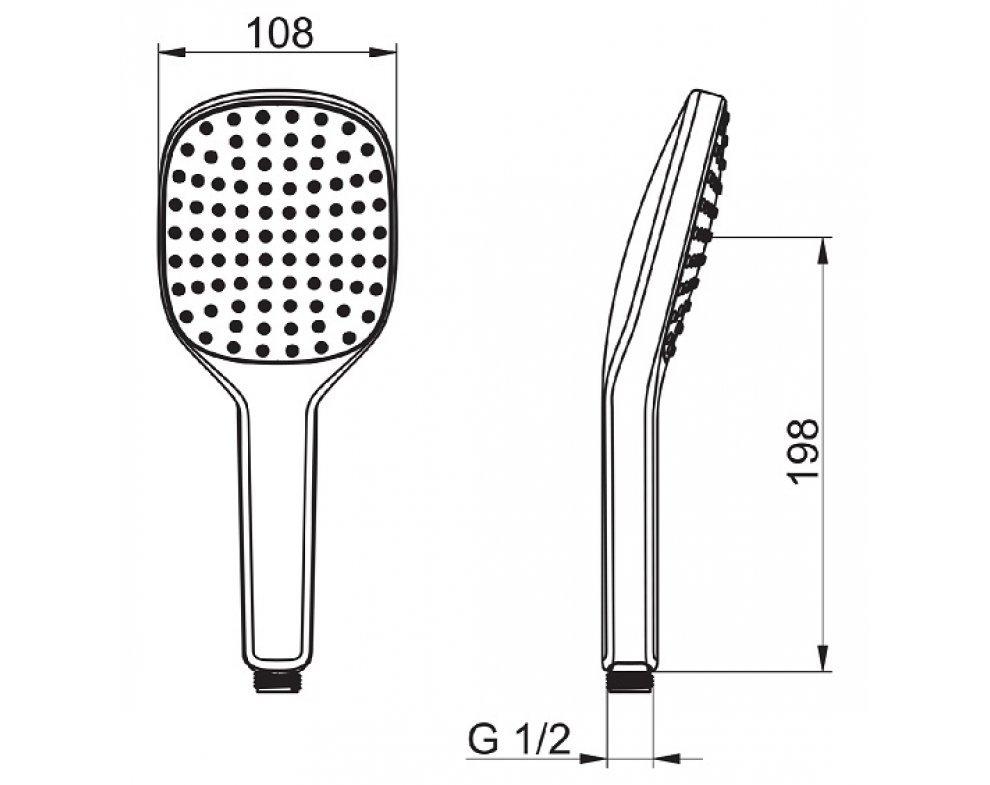 Ručná sprcha, 1-polohová HANSAACTIVEJET