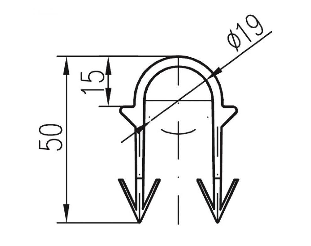 Podlahová príchytka typ A (pr.19mm)