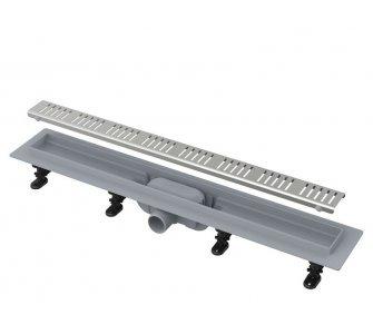 Simple - Podlahový žľab s okrajom pre perforovaný rošt, dĺžka 850mm