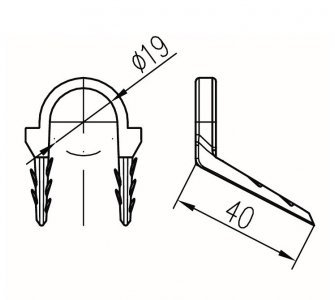 Podlahová príchytka typ B (pr.19mm)