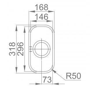Drez nerezový Sinks SINGULAR 168 V 0,7mm leštený