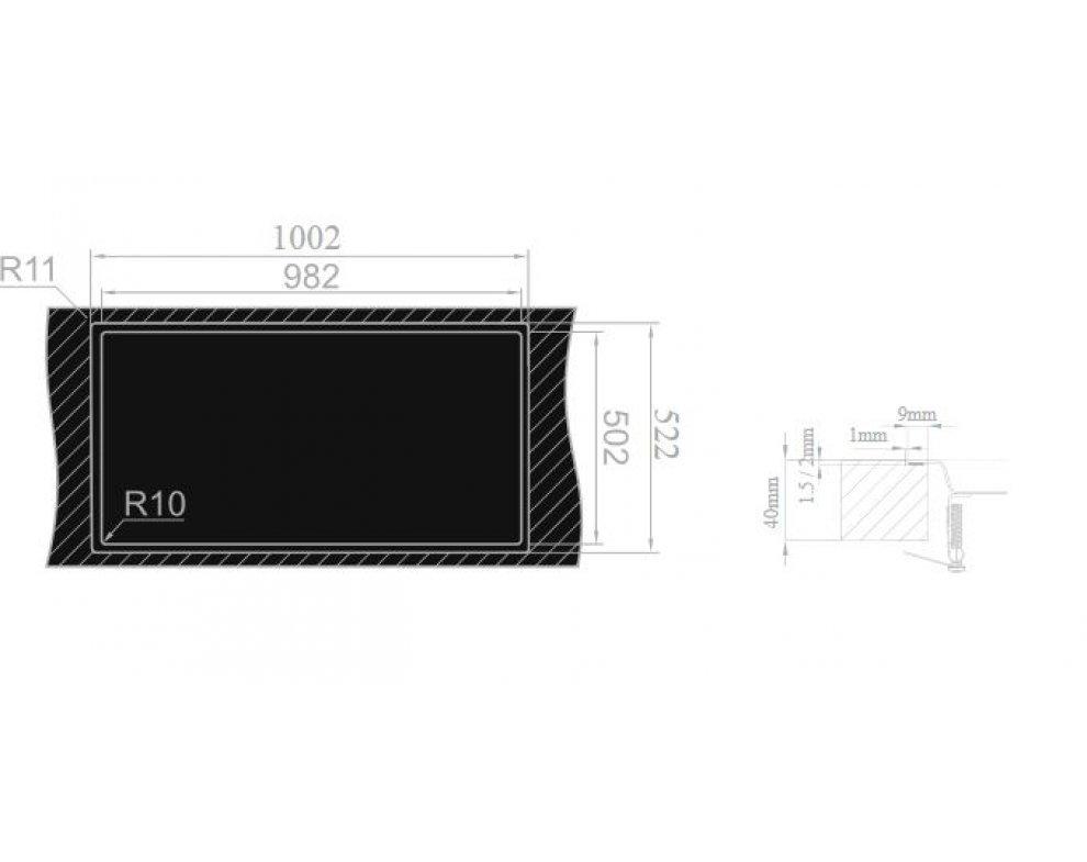 Drez nerezový Sinks XERON 1000.1 pravý 1,2mm