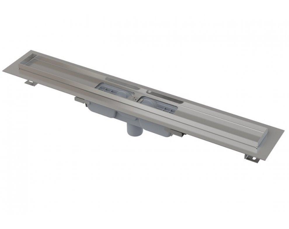 Low – Podlahový žľab s okrajom pro perforovaný rošt, zvislý odtok