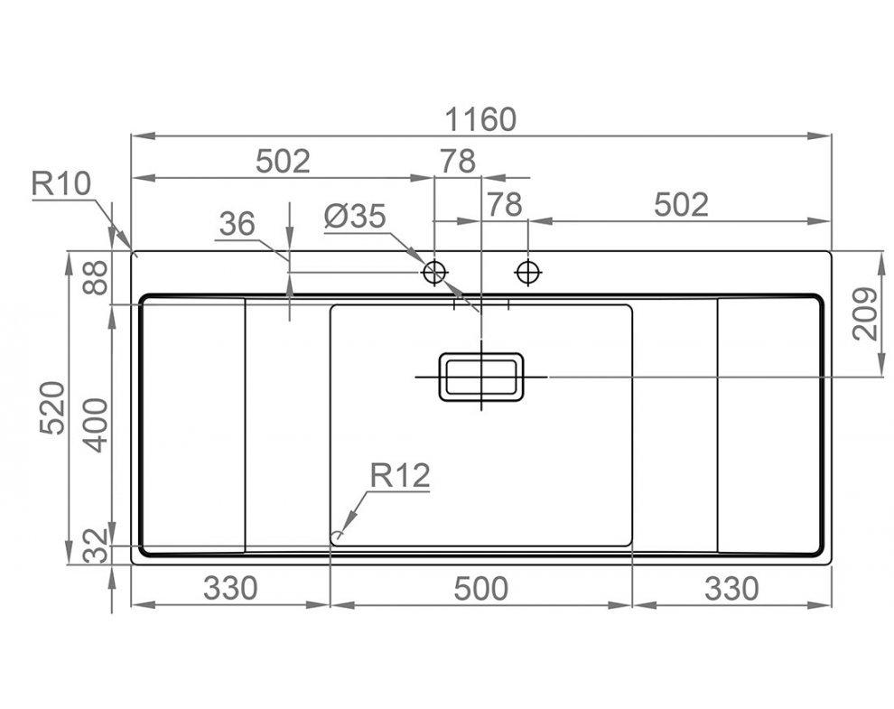 Drez nerezový Sinks XERON 1160 1,2mm