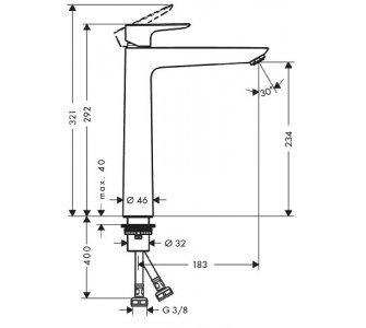 batéria umývadlová stojanková bez odtok. garnitúry, Talis E