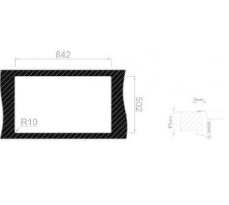 Drez nerezový Sinks XERON 860 ľavý 1,2mm