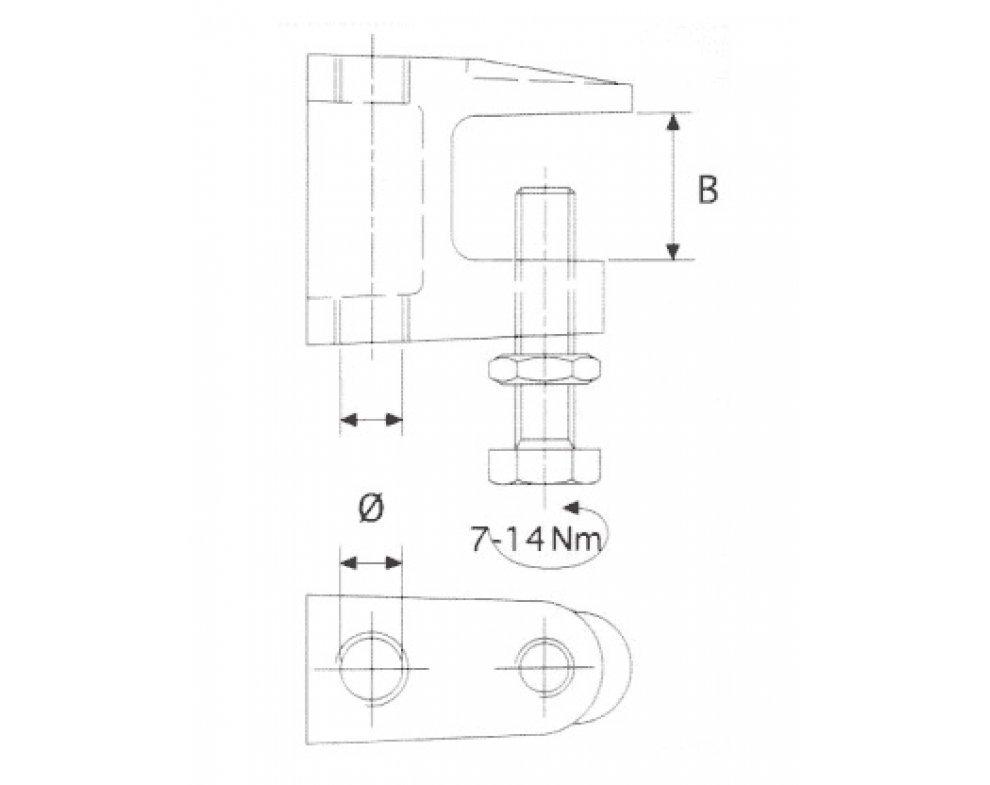 nosná svorka TKL M8 0 - 18mm (88821700102)