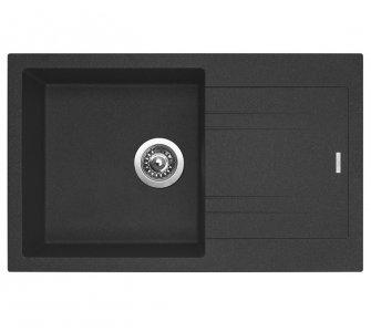 SET drez granit Sinks LINEA 780 N Granblack + batéria so sprškou LEGENDA S Granblack