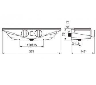 batéria sprchová stenová termostatická s Wellfit, biela-chróm, HANSAEMOTION