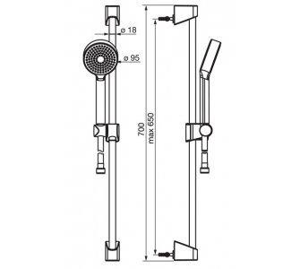 batéria sprchová stenová termostatická so sprchovou súpravou HANSABASICJET, HANSAMICRA