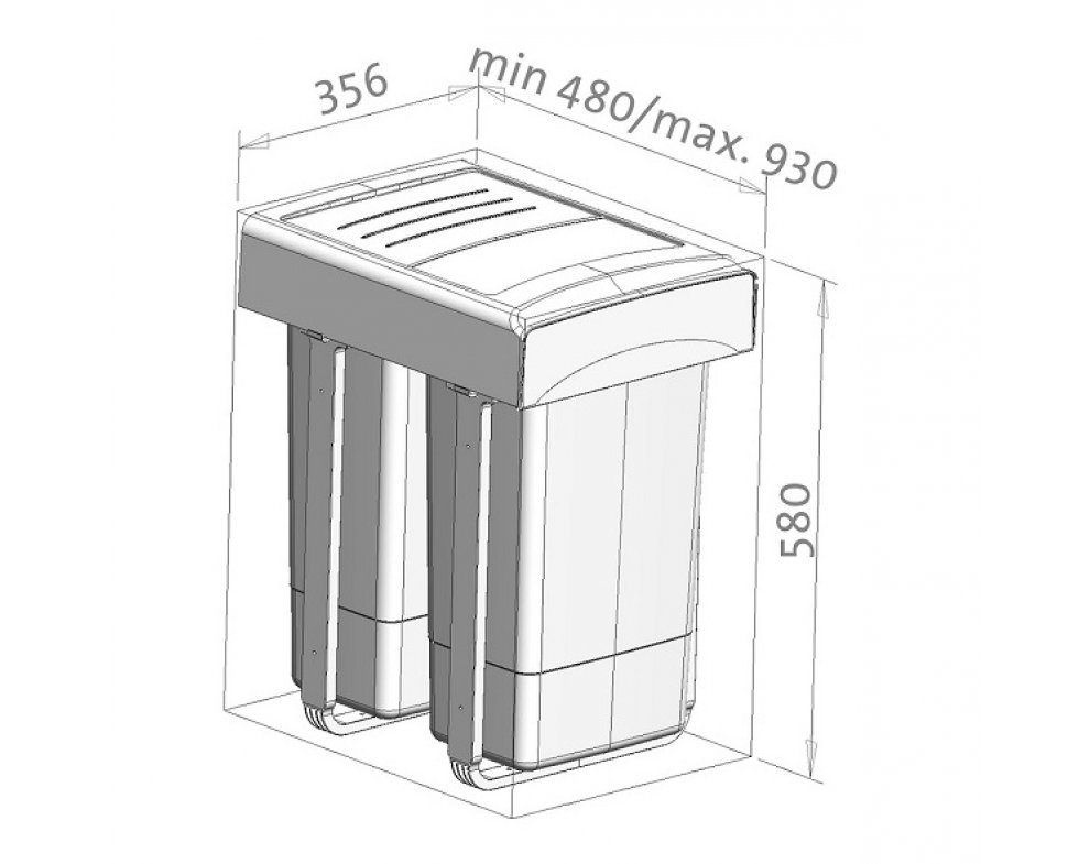 sorter Sinks MEGA 45 2x26 l