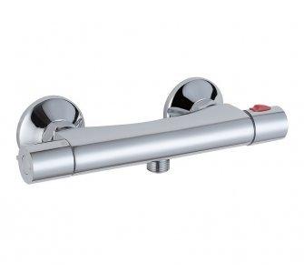 batéria sprchová termostatická s dolným vývodom, bez príslušenstva, PULZAR