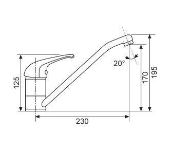 Batéria drezová granitová Sinks CAPRI 4 - 74 Metalblack