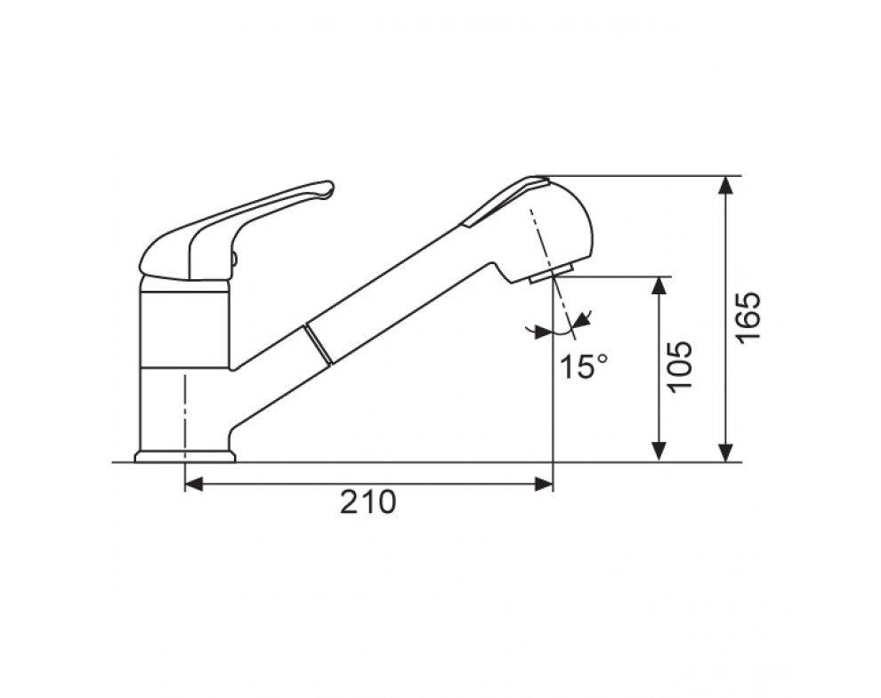 Batéria drezová granitová Sinks CAPRI 4 S - 74 Metalblack