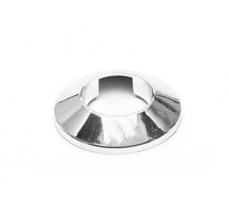 krytka trubková jednoduchá chróm 15mm