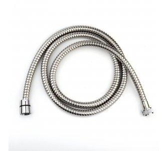 sprchová hadica kovová, dvojzámková, dĺžka 150cm, LEŠTENÁ NEREZ