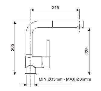 Batéria drezová granitová Sinks MIX 3 P - 54 Truffle