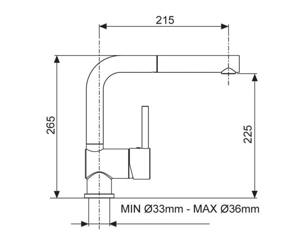 Batéria drezová granitová Sinks MIX 3 P - 74 Metalblack