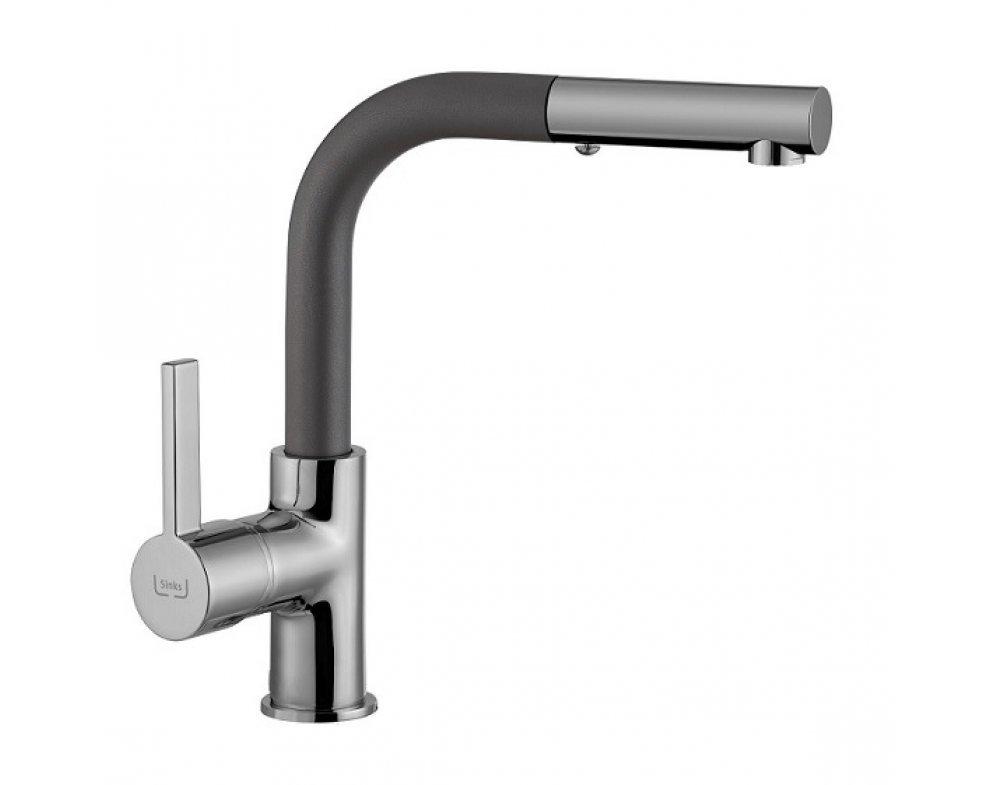 SET drez granit Sinks LINEA 780 N Titanium + batéria ENIGMA S GR