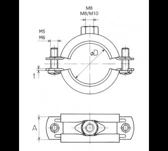 objímka dvojskrutková M8/M10 54 - 59