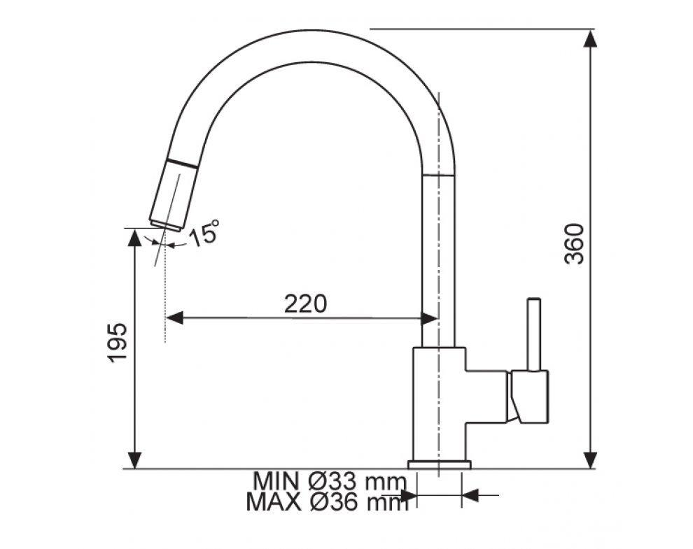 Batéria drezová Sinks MIX 35 P lesklá