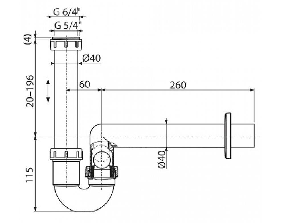 Sifón pre odkvapkávajúci kondenzát DN40