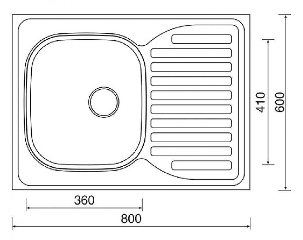 drez nerezový Sinks CLP-D 800 M 0,5mm ľavý matný