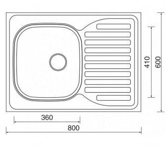 drez nerezový Sinks CLP-D 800 M 0,5mm pravý matný