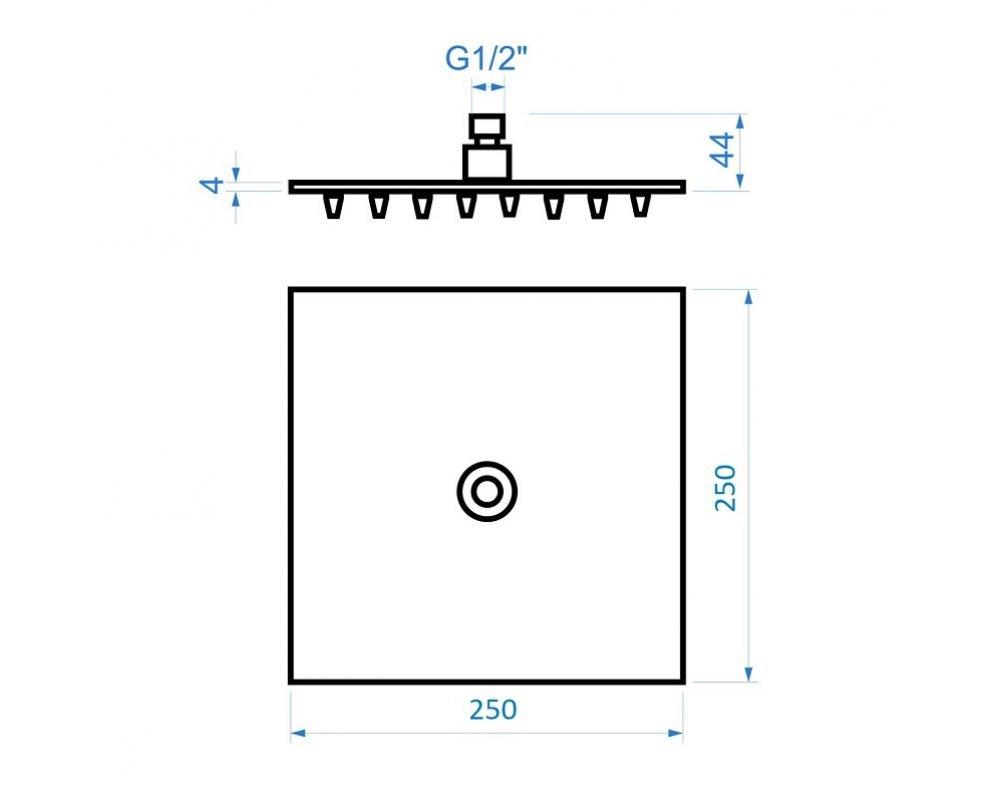 sprchový set termostatickej batérie PRISMA s tyčou Tevere a kompletným príslušenstvom