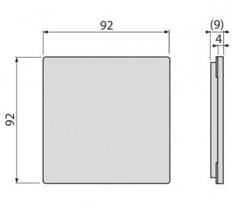 Mriežka pre nerezové vpuste 92×92 mm nerez